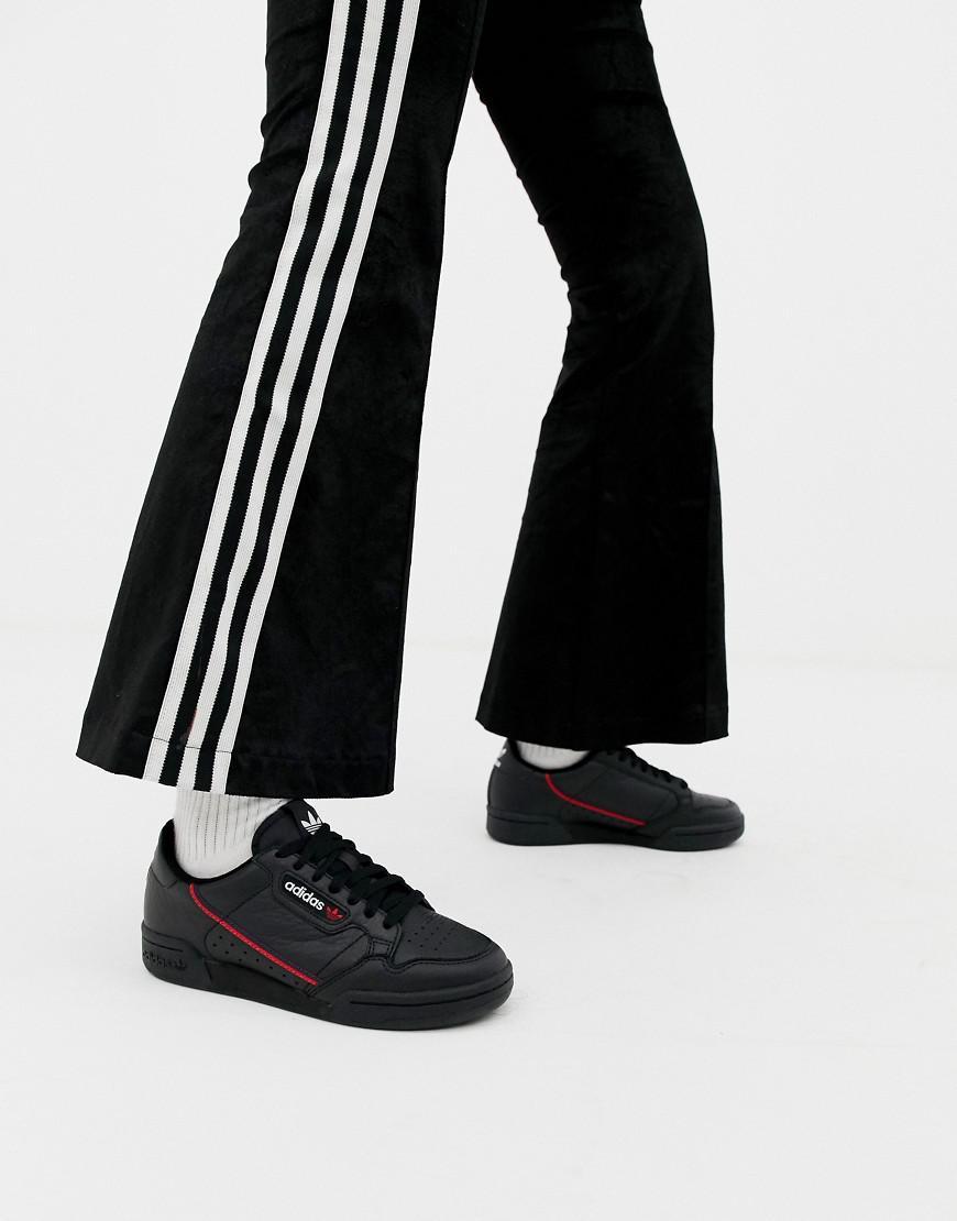 ab003b556dcd Adidas Originals Black Continental 80 Sneakers in Black - Lyst