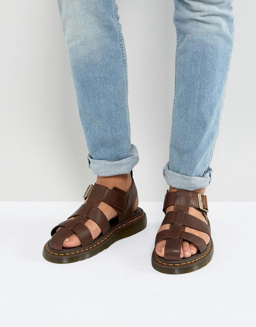 Dr. Martens. Men's Brown Galia Carpathian Sandals ...