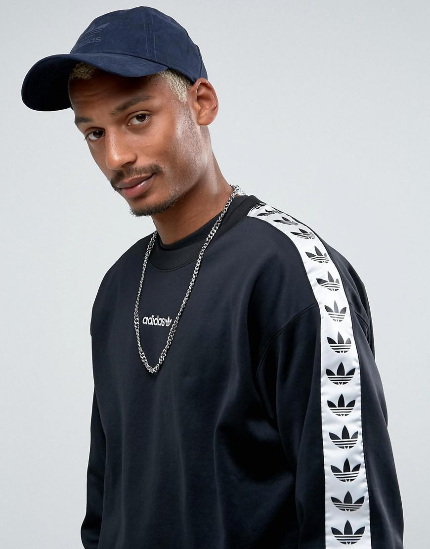 Lyst - Adidas Originals Adicolor Tnt Tape Crew Sweatshirt In Black ... 80d2f63a69