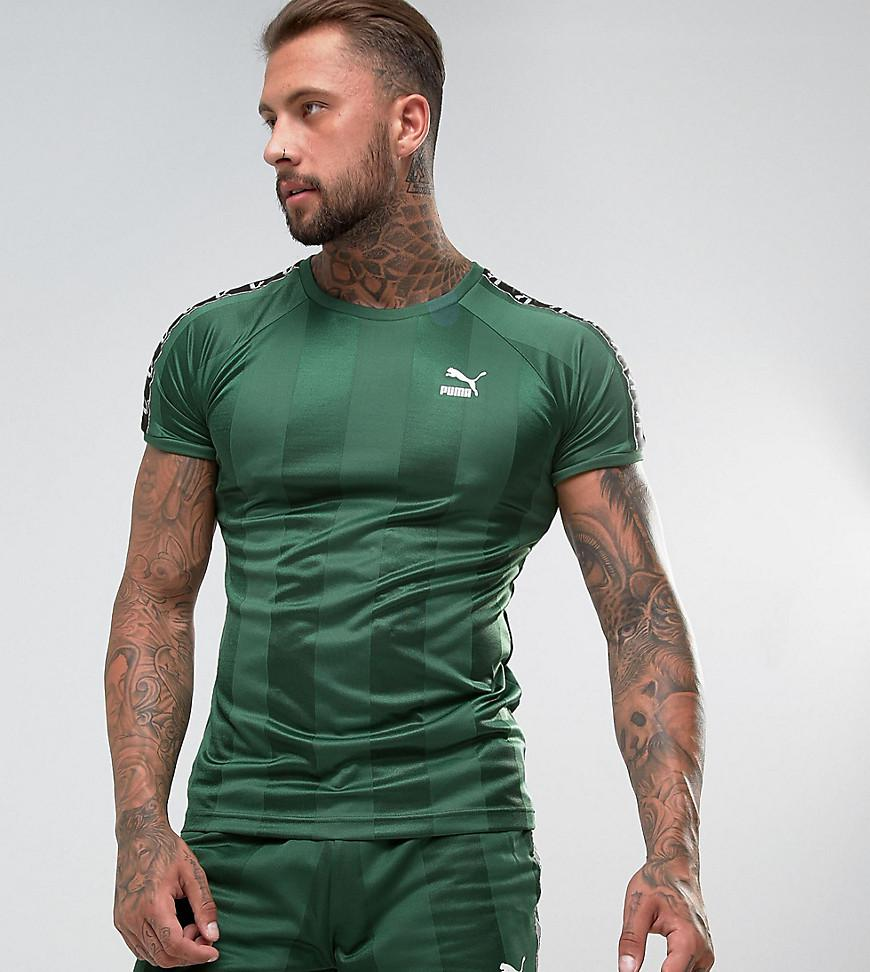 546ac0dd8e1a PUMA Retro Football T-shirt In Green Exclusive To Asos 57657802 in ...