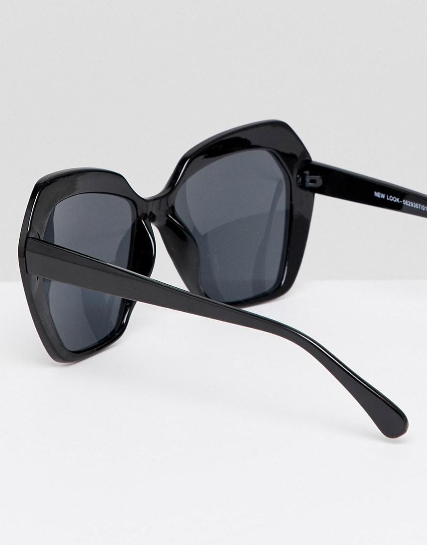 Angular Oversized Sunglasses - Black New Look atlQlW