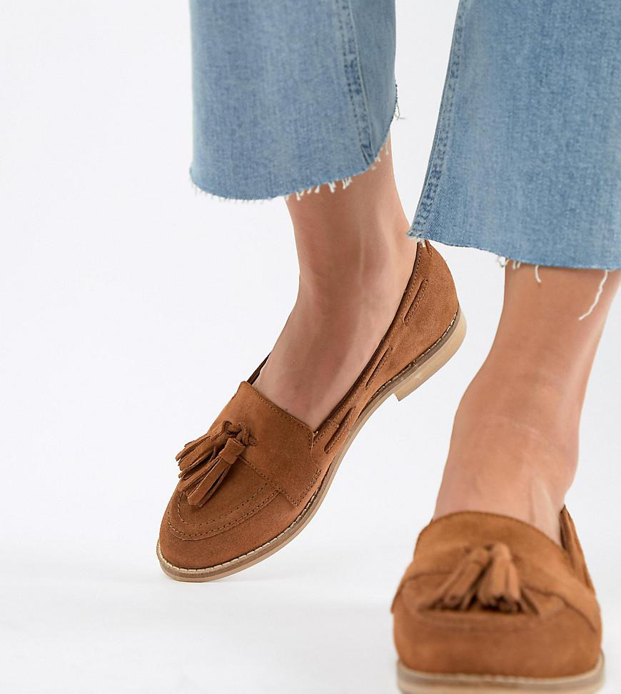 9501344d635 Lyst - ASOS Messenger Suede Tassel Loafers in Brown