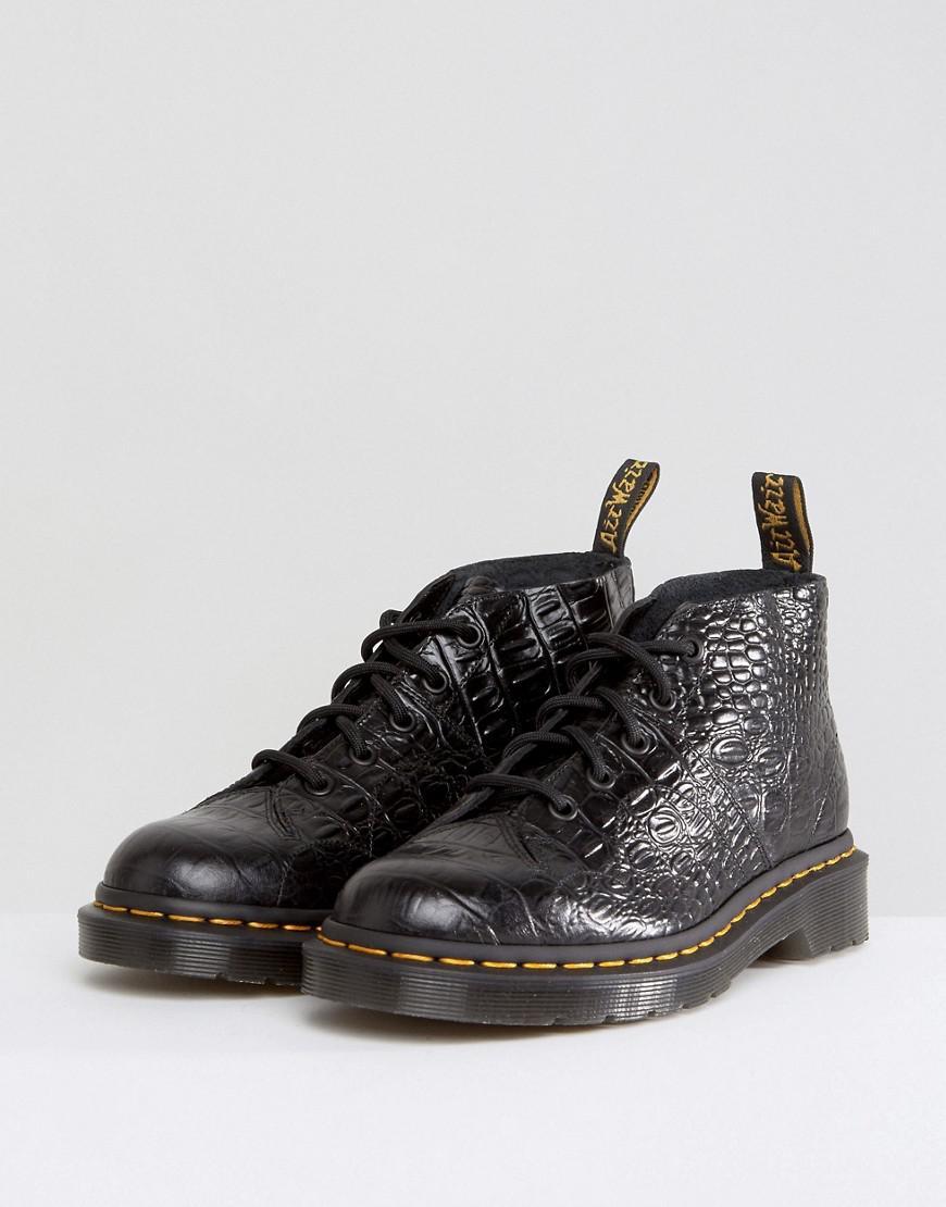 Lyst Dr Martens Church Croc Monkey Boots In Black