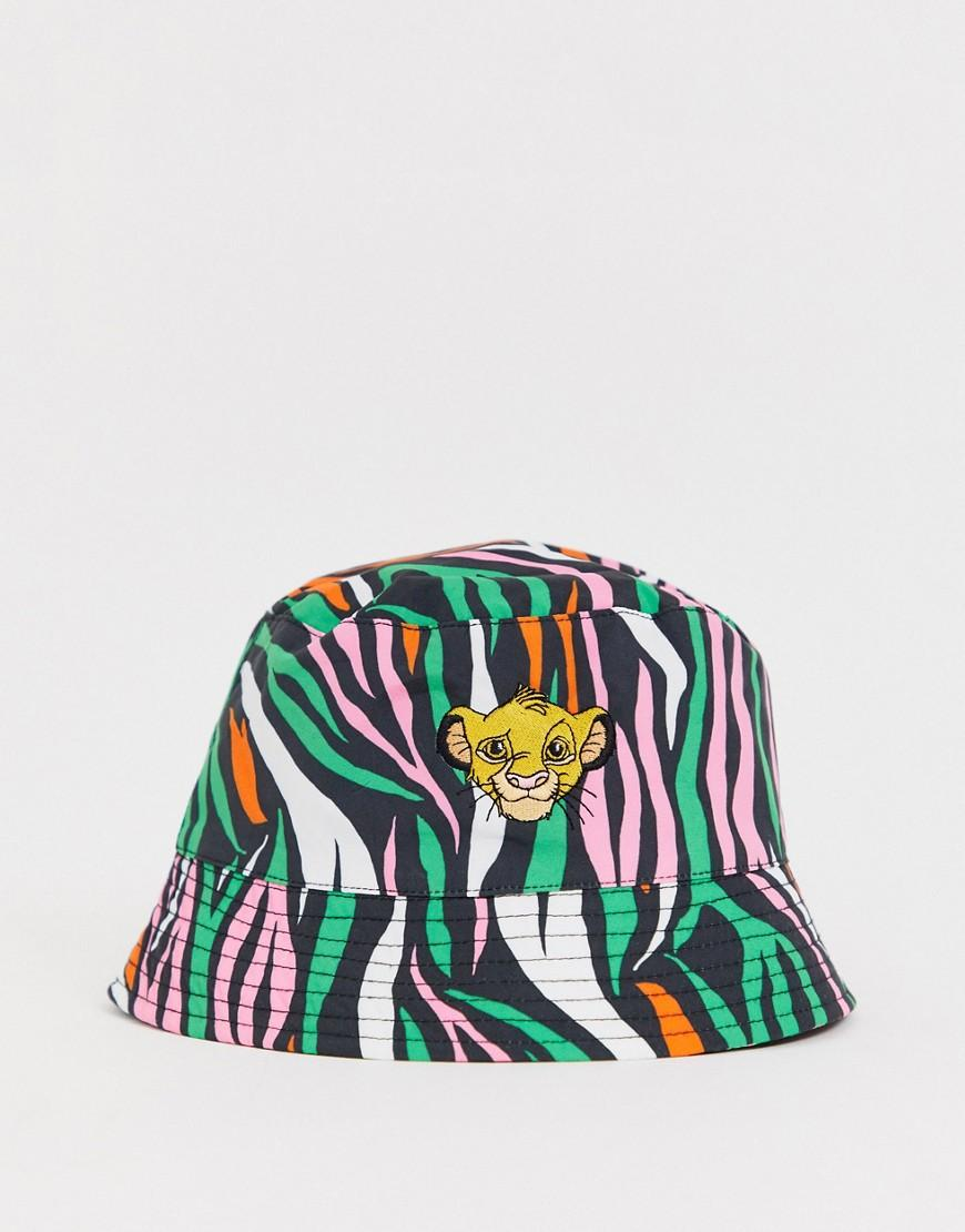 6fe524ebc ASOS Disney The Lion King X Bucket Hat With Simba Embroidery in ...