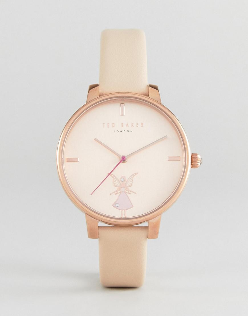 d54b30335 Ted Baker Kate Ballerina Leather Watch In Pink in Pink - Lyst
