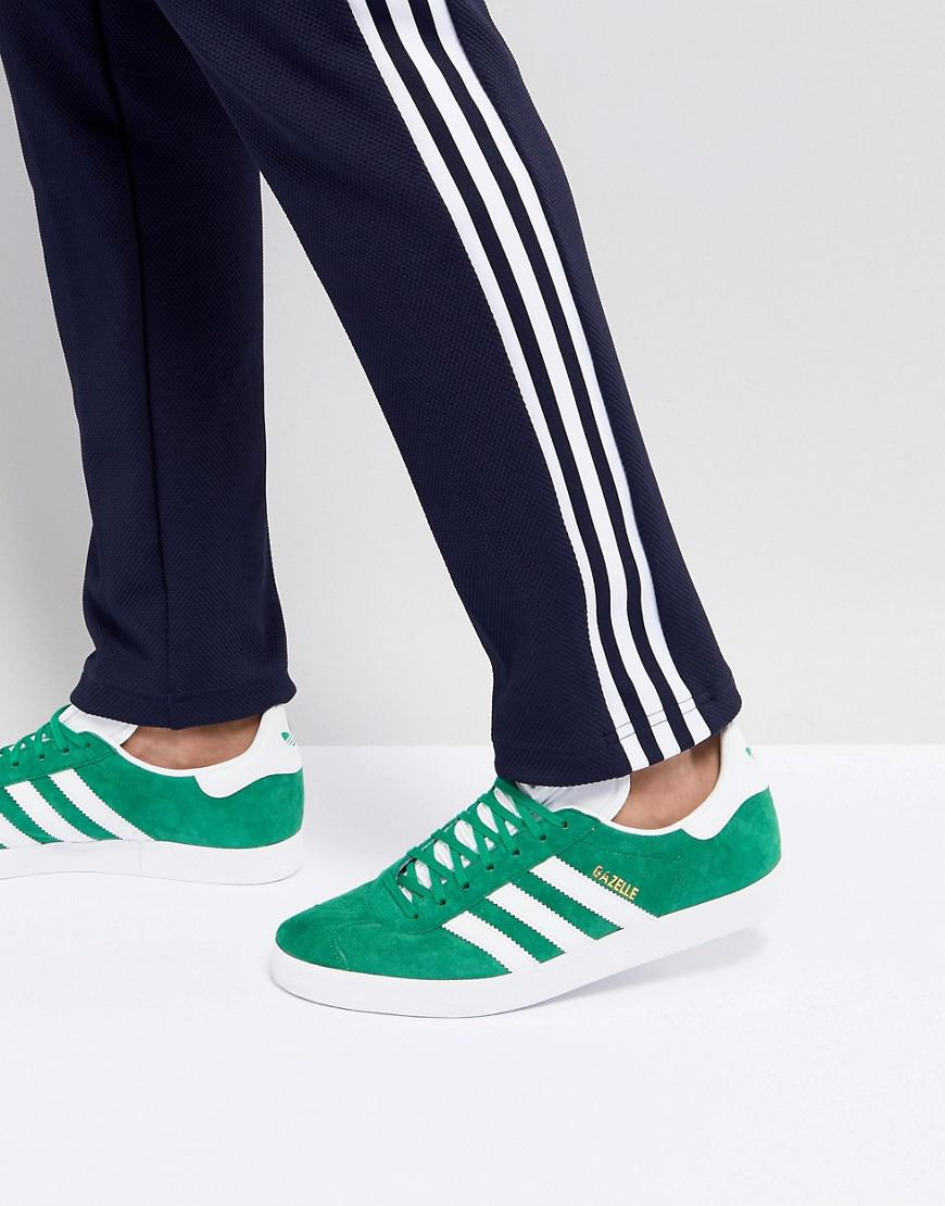 Lyst Adidas Originali Gazzella Scarpe In Verde Bb5477 In Verde