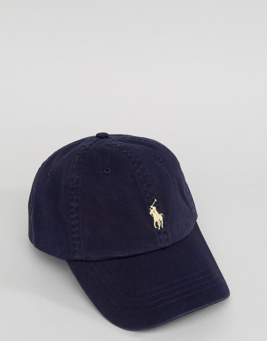Lyst - Casquette de baseball avec logo joueur de polo blanc Polo Ralph  Lauren pour homme en coloris Bleu e435b0bb358