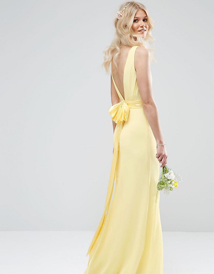 Maxi Dresses Yellow Wedding