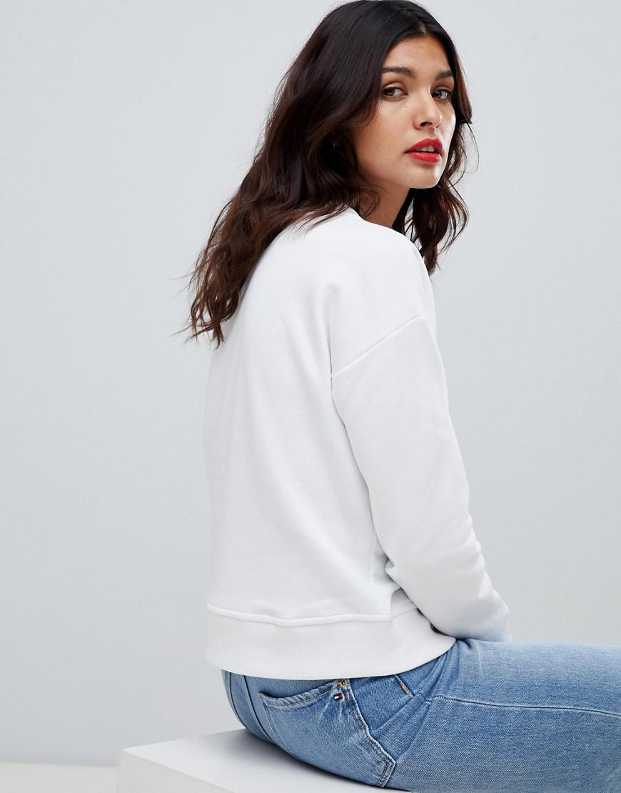 d81594bd Lyst - Tommy Hilfiger Tommy X Love Sweatshirt With Love Heart Embroidery in  White