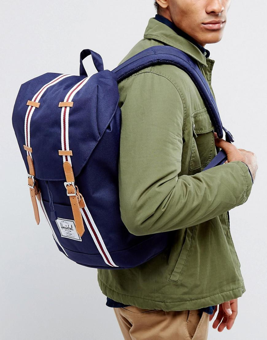 9f9161637e Lyst - Herschel Supply Co. . Retreat Backpack In Navy 19.5l in Blue ...