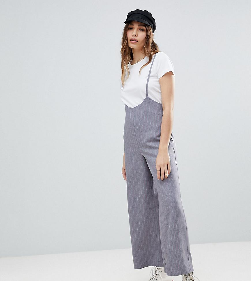a108ce0124da Lyst - Reclaimed (vintage) Inspired Pinstripe Crop Pants With ...