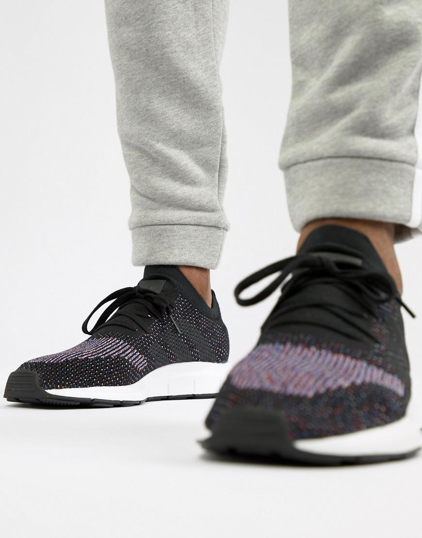Lyst - adidas Originals Swift Run Primeknit Sneakers In Black Cq2894 ... 328bf4a11