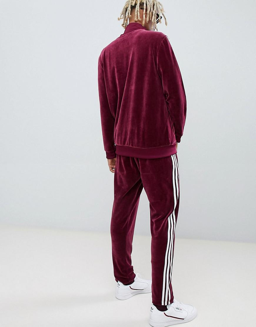 9ede0fa13ed adidas Originals Velour Sweatpants In Red Dh5784 in Red for Men - Lyst