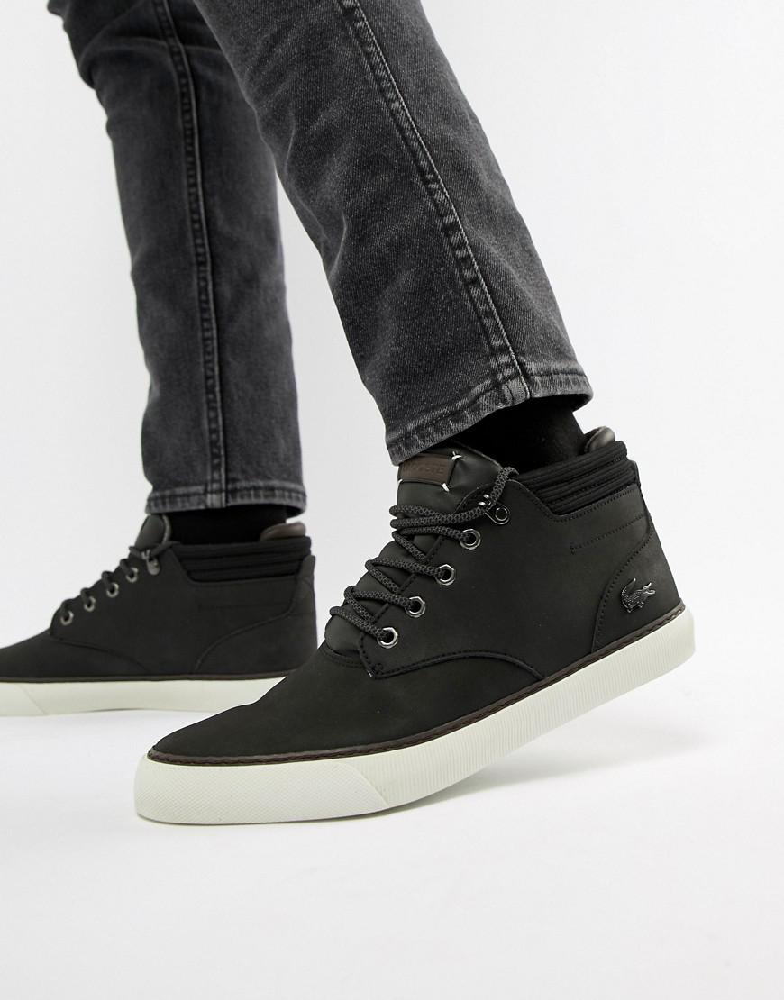 250924489c30 Lacoste Esparre Winter C 318 3 Chukka Boots In Black in Black for Men - Lyst