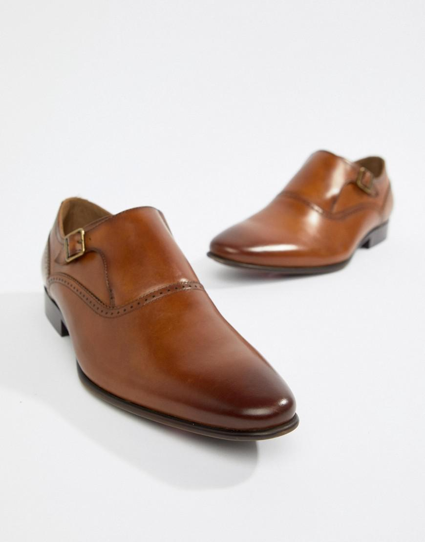 f72b43b9f37 Aldo Qerrasen Monk Shoes In Tan Leather in Brown for Men - Lyst