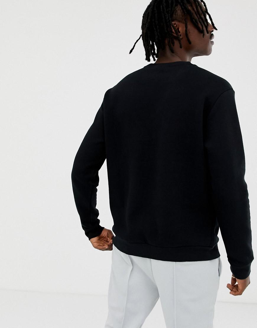 72e2fcd437bf Fila Black Line Basil Sweatshirt With Logo In Black in Black for Men - Lyst