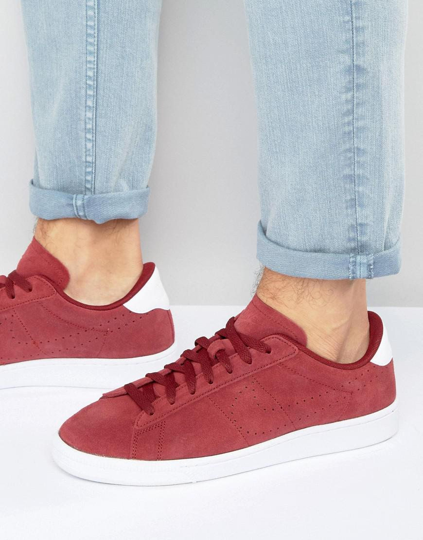 online retailer 0eb59 cb9ac Nike Tennis Classic Cs Suede Trainers In Red 829351-601 in Red for ...
