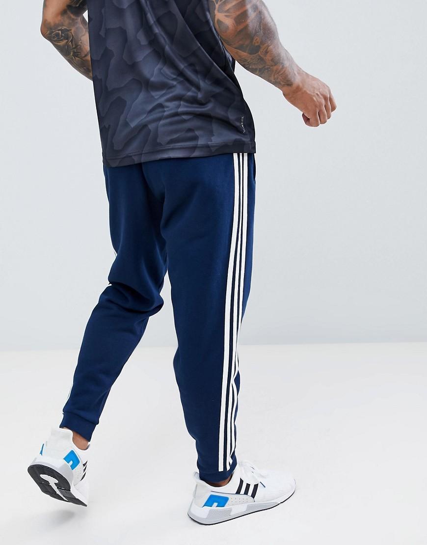 Pantalon de jogging 3 bandes Bleu marine DJ2118 Adidas Originals pour homme en coloris Blue