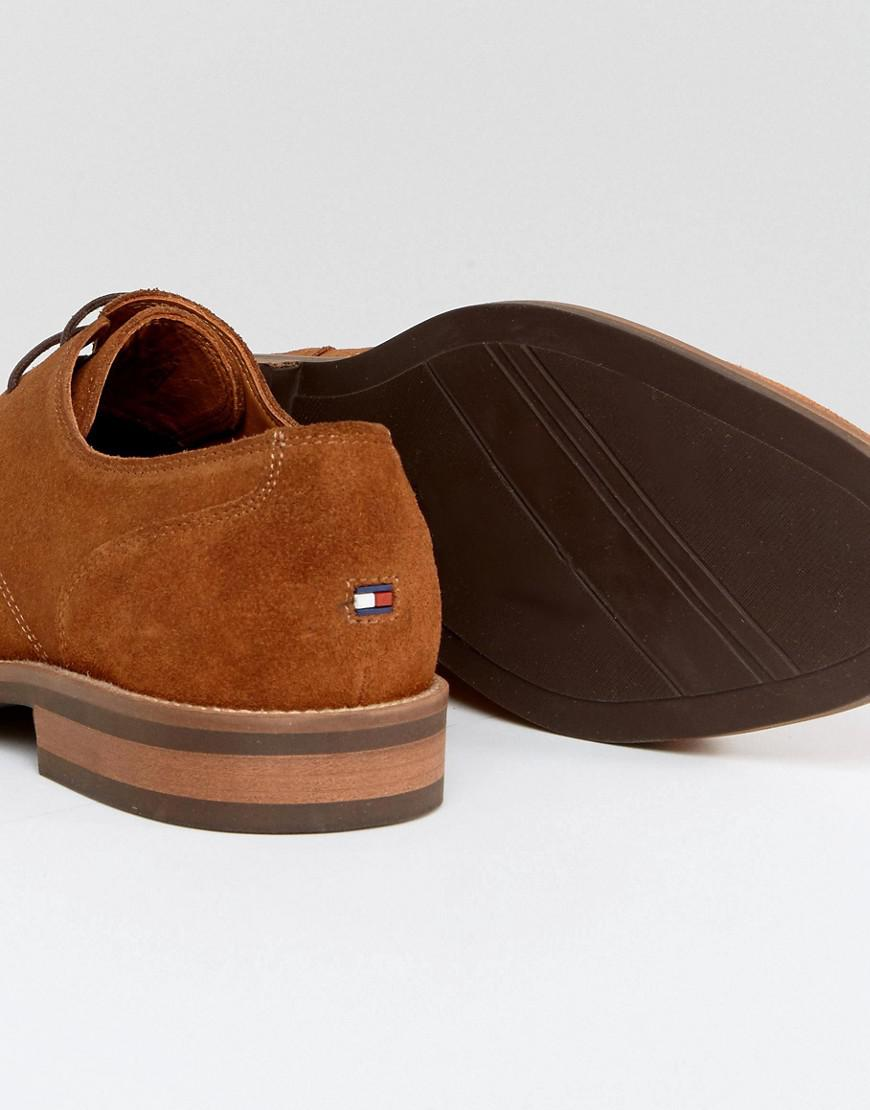 12ae8c3a1 Tommy Hilfiger Daytona Suede Derby Shoes In Brown in Brown for Men ...