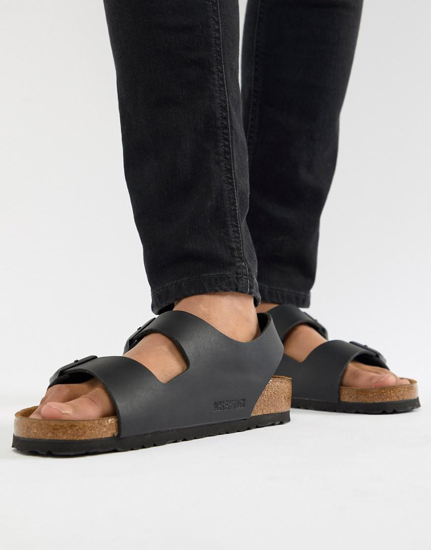 b6975b4bb1d3 Birkenstock Milano Birko-flor Sandals In Black in Black for Men - Lyst