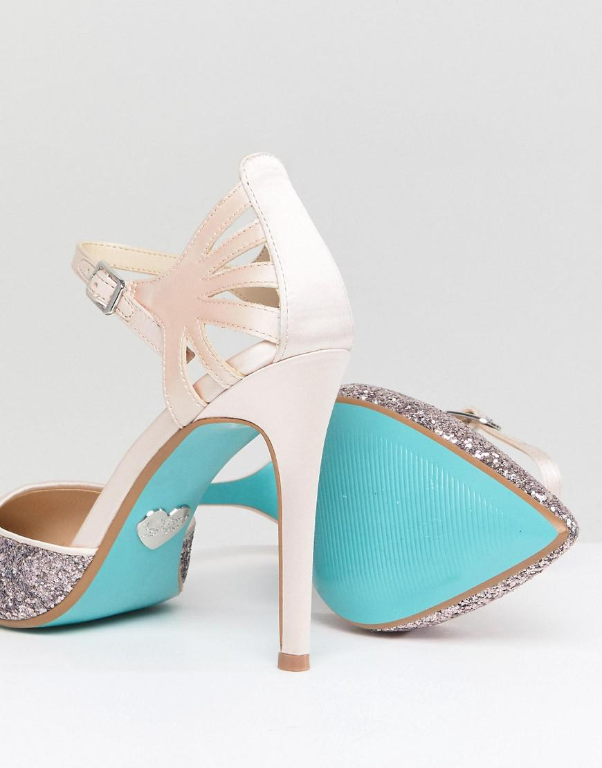 Betsey Johnson Blue By Betsy Johnson Blush Avery Heeled Wedding ...