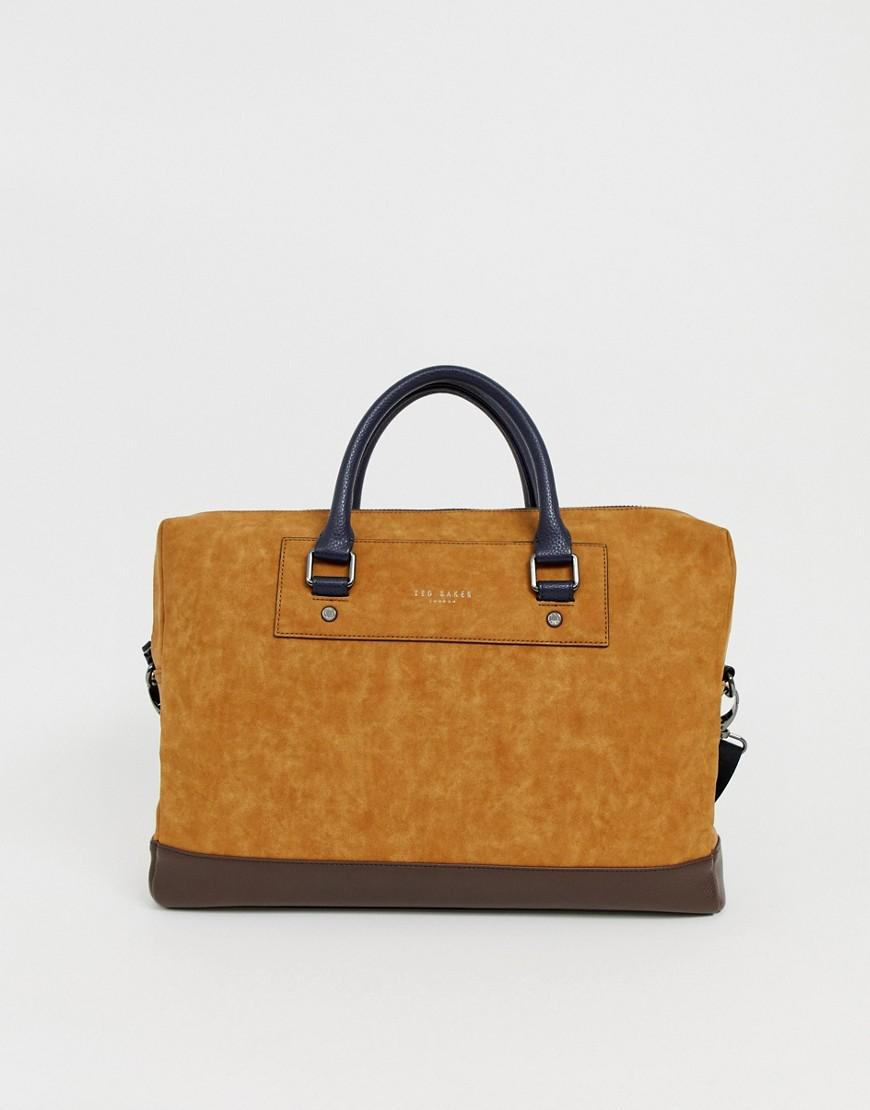 bc3e423d5670 Ted Baker Pitza Nubuck Laptop Bag In Tan in Brown for Men - Lyst