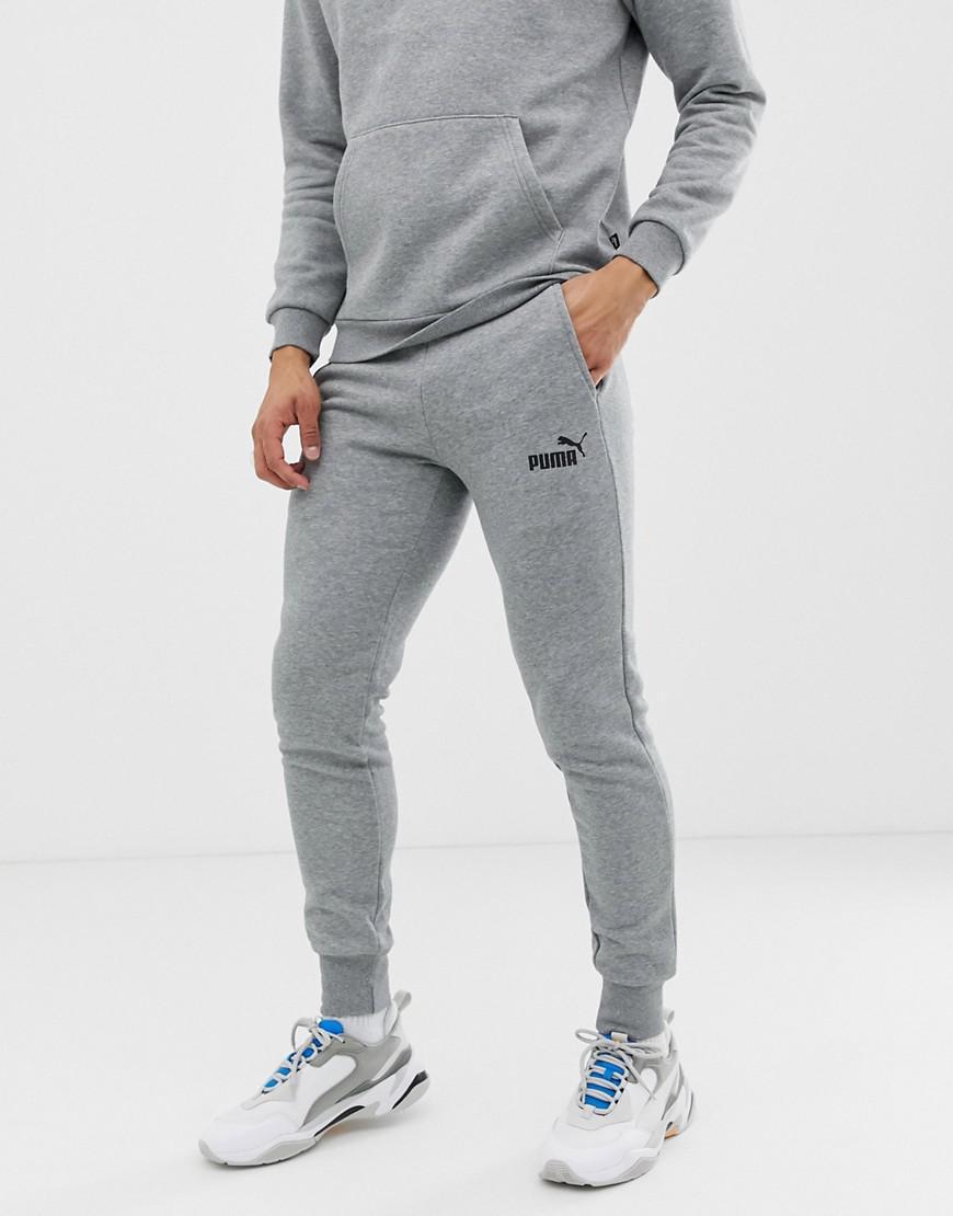 c9083661e34 PUMA - Gray Essentials Skinny Fit joggers In Grey for Men - Lyst. View  fullscreen