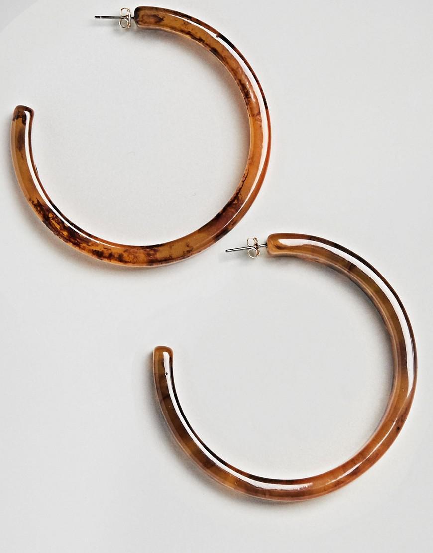 DESIGN Xl Tortoiseshell Hoop Earrings - Gold Asos lc5iPHz4H2