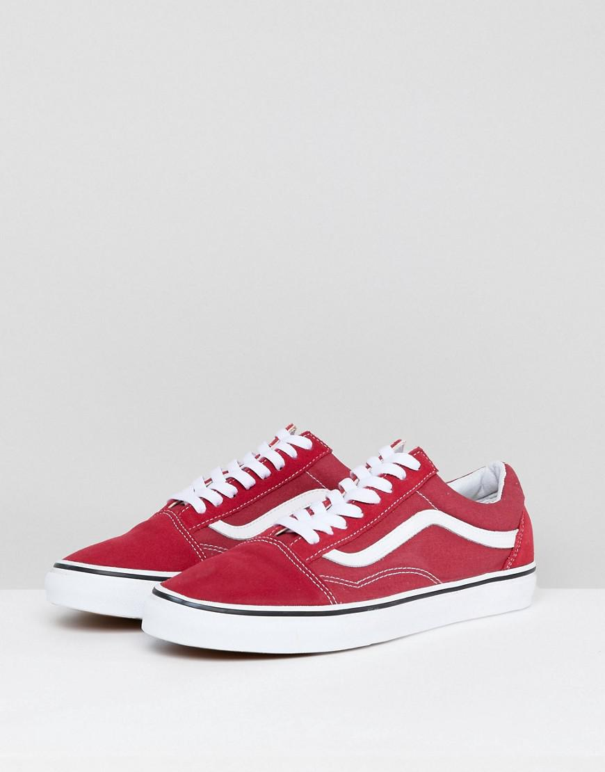 7a676f731b Vans Old Skool Trainers In Red Va38g1q9u in Red for Men - Lyst
