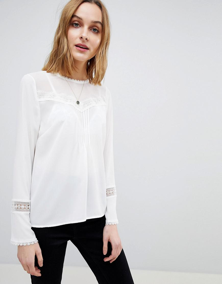 warehouse Lace Insert Pleat Detail Top Eastbay Cheap Online Outlet Find Great gMlBmaVO