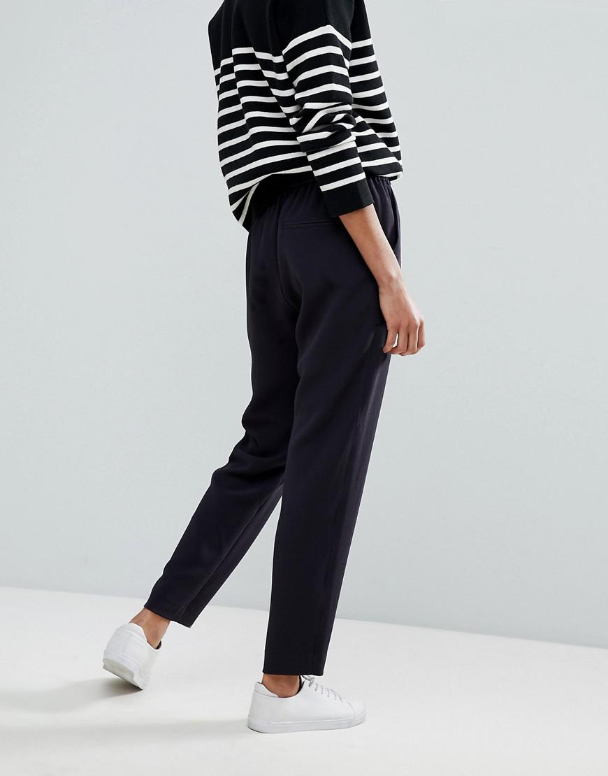 Relaxed Trousers with Patched Pockets - Dark blue HUGO BOSS Clearance Largest Supplier v8kMwsQ