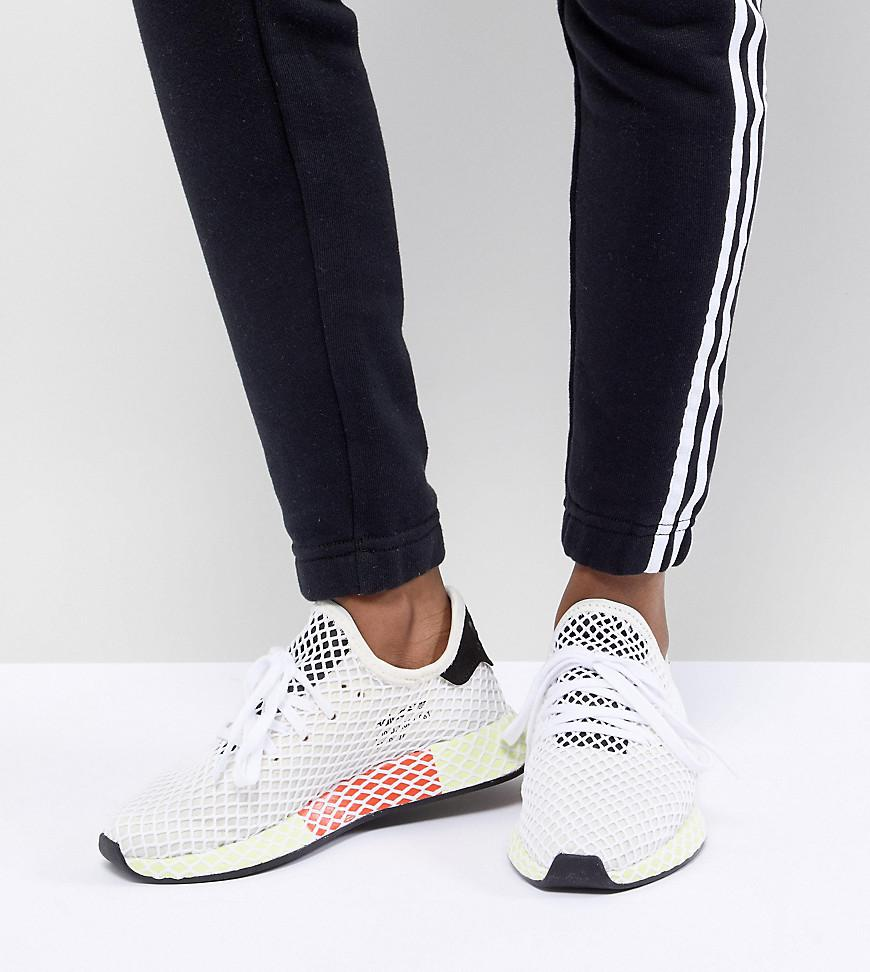 155008398c29 Adidas Originals - Black Deerupt Runner Trainers In White And Yellow -  Lyst. View fullscreen
