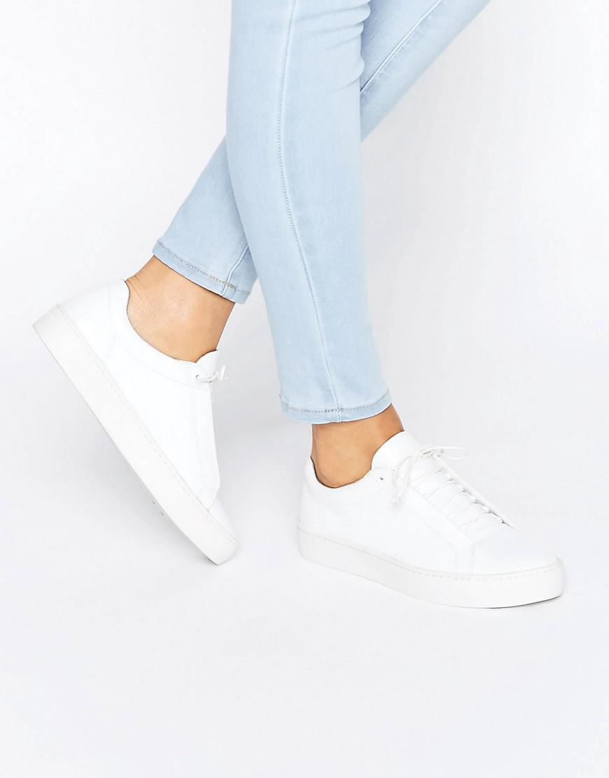 9ae69eb77a4be0 Vagabond Zoe Leather White Trainers in White - Lyst