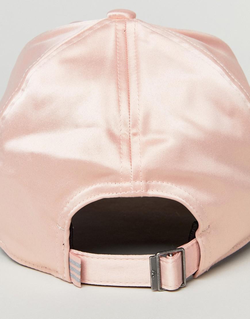 Lyst - adidas Originals Originals Satin Cap In Pink in Pink 9f8d54c082be