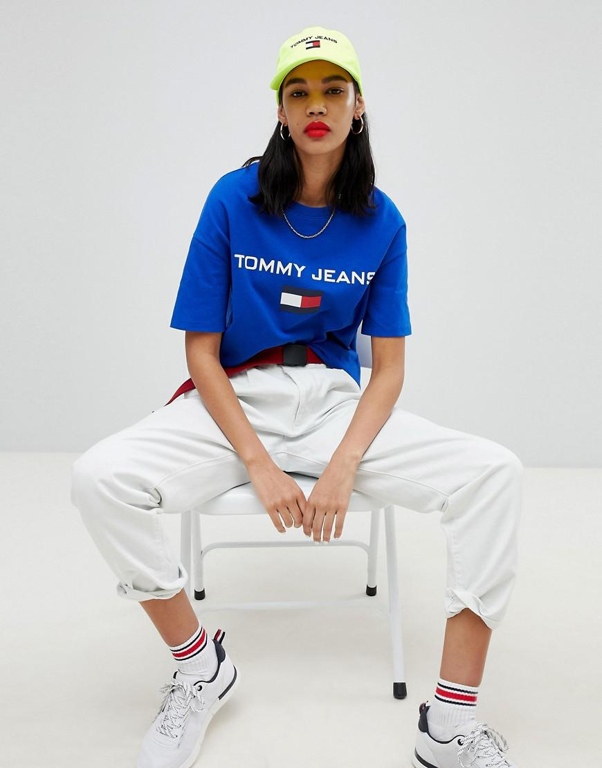 39489a3e Tommy Hilfiger Tommy Jean 90s Capsule 5.0 Logo T-shirt in Blue - Lyst