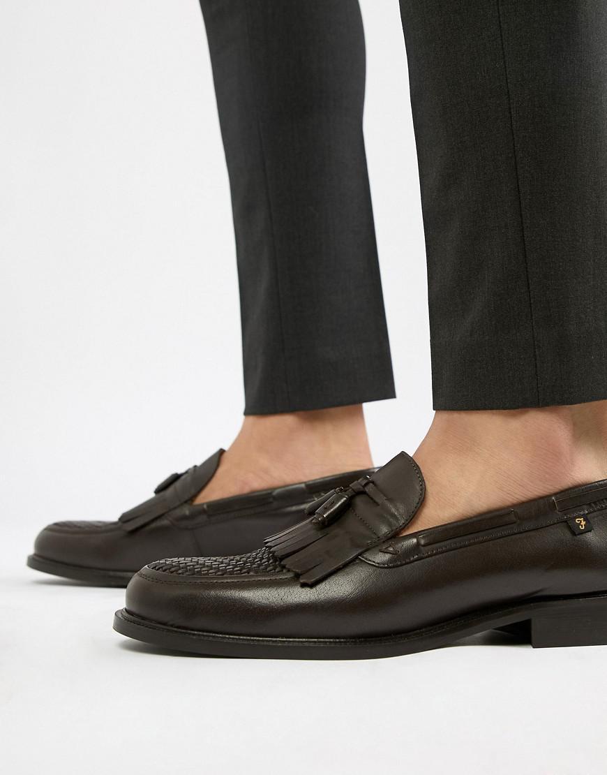 Farah Chapman Leather Tassel Loafers Ejl4xpME