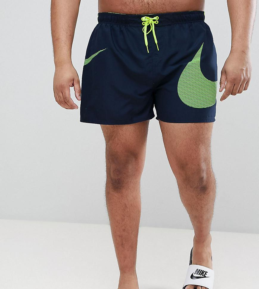 7cd0cec5f2 Nike Plus Volley Swoosh Swim Short In Navy Ness8457-489 in Blue for ...