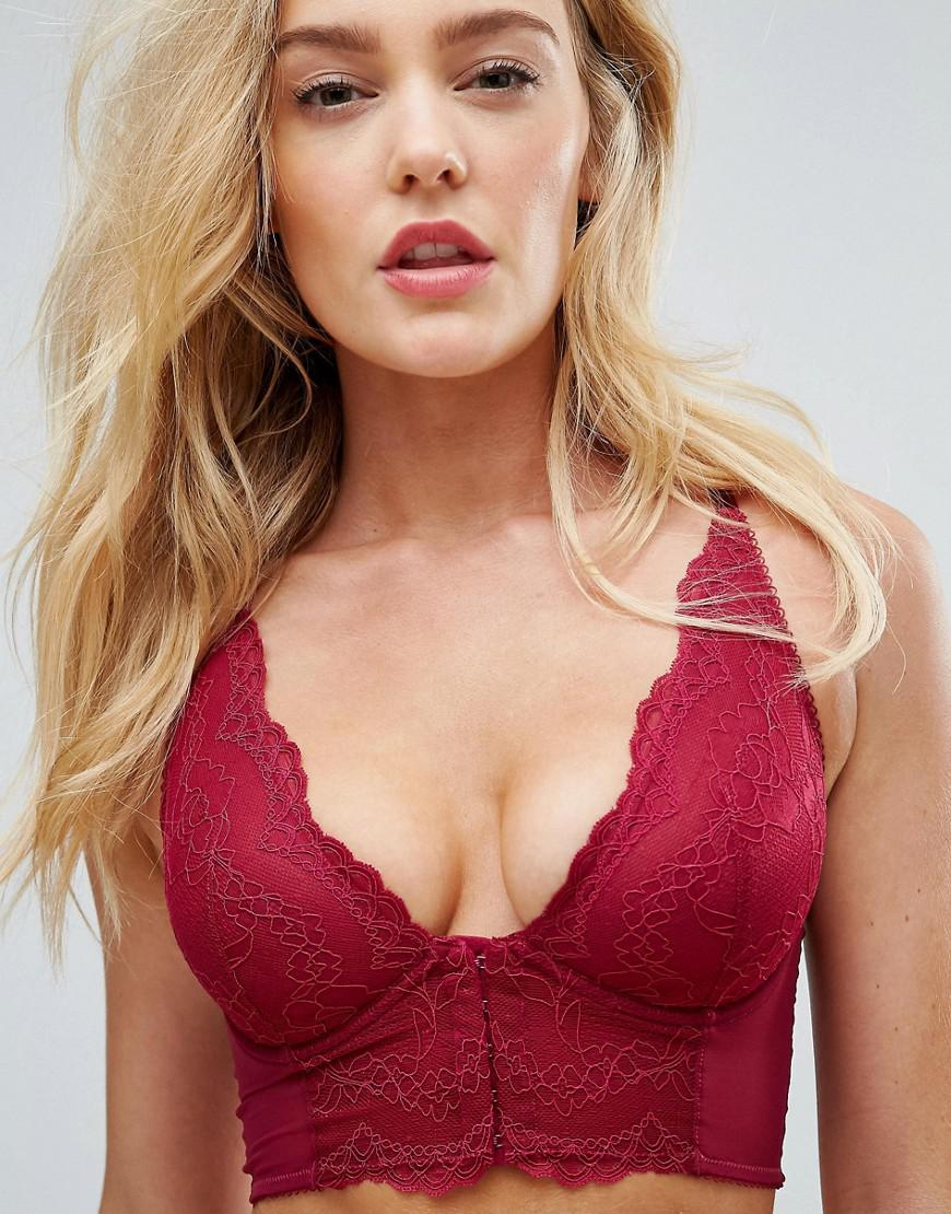 869e452bec1 Lyst - Gossard Superboost Ruby Lace Bralette B-g Cup in Pink