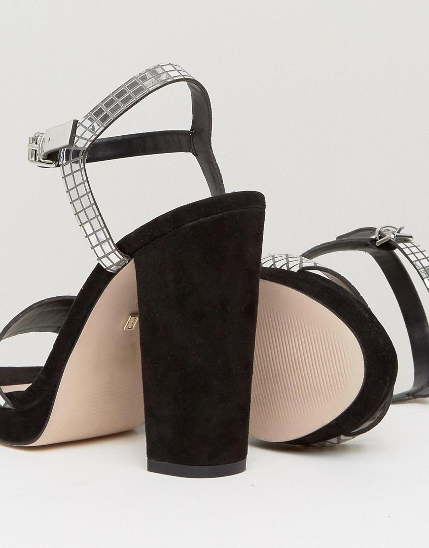 f76da687b319 Lyst - Faith Mirror Platform Sandals in Metallic
