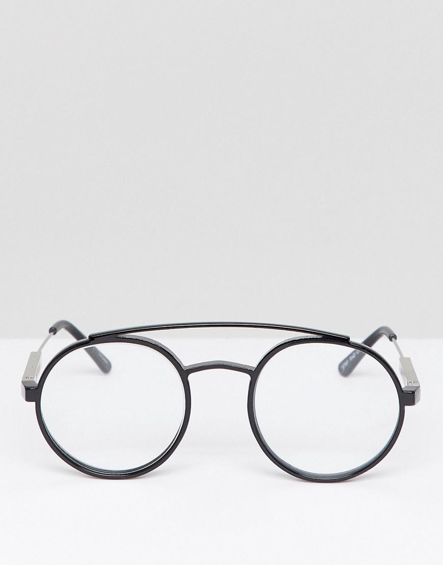 190e46d577dd67 Lyst - Lunettes rondes verres transparents Spitfire pour homme en coloris  Noir