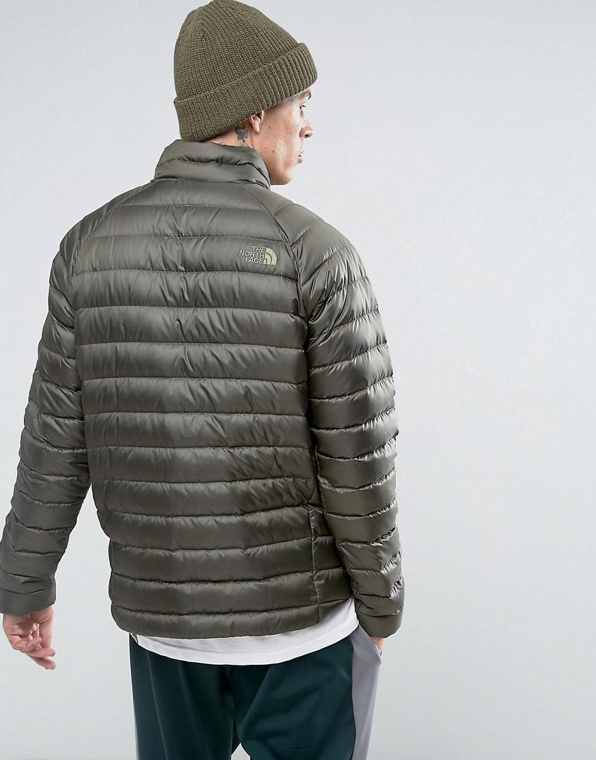f937311b3994 ... new style lyst the north face trevail lightweight down jacket in green  in deabe a7a1d