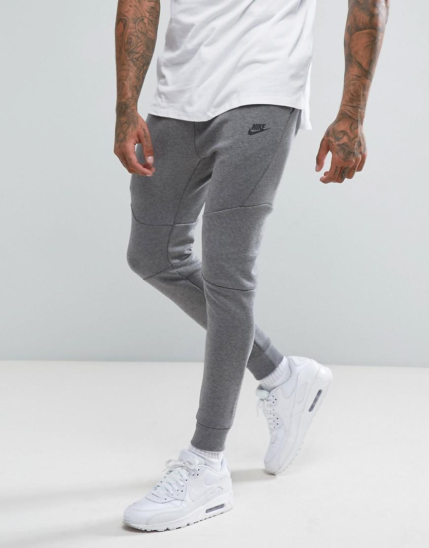 new product buying now hot sale Nike Cotton Tech Fleece Skinny Joggers In Grey 805162-091 in ...