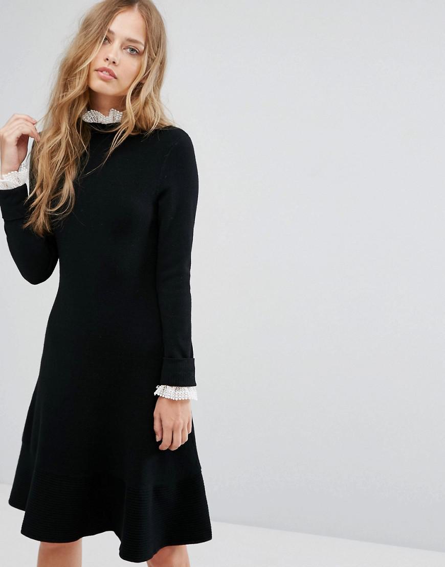 PU Lace Dress - Black Suncoo kD3xnzR