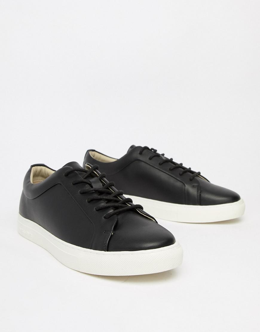 9c291376f4608 Jack   Jones Premium Trainer In Black With Contrast Sole in Black ...