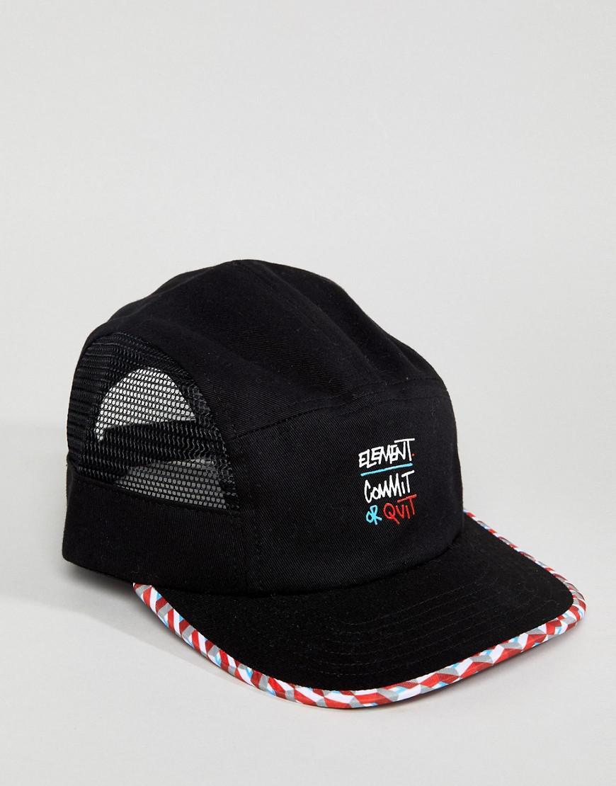 51f865662e9cb Element Strober Baseball Cap in Black for Men - Lyst