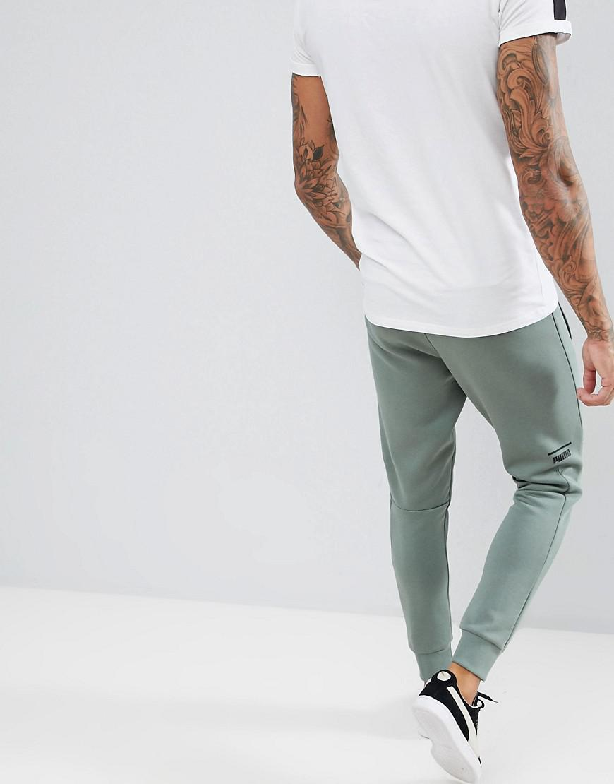 ca3415227bf6 PUMA Pace Skinny Joggers In Green 57680923 in Green for Men - Lyst