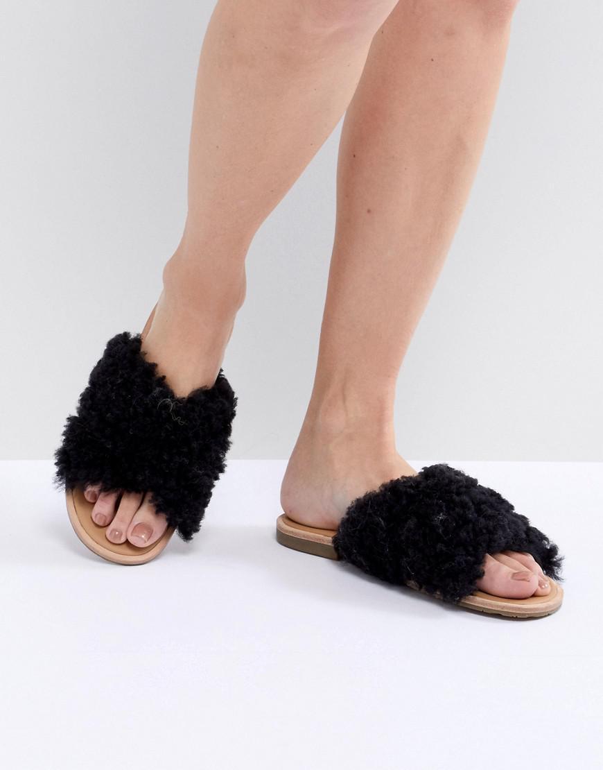 4a72b20b83e UGG Joni Slide Sandals Black in Black - Save 55% - Lyst