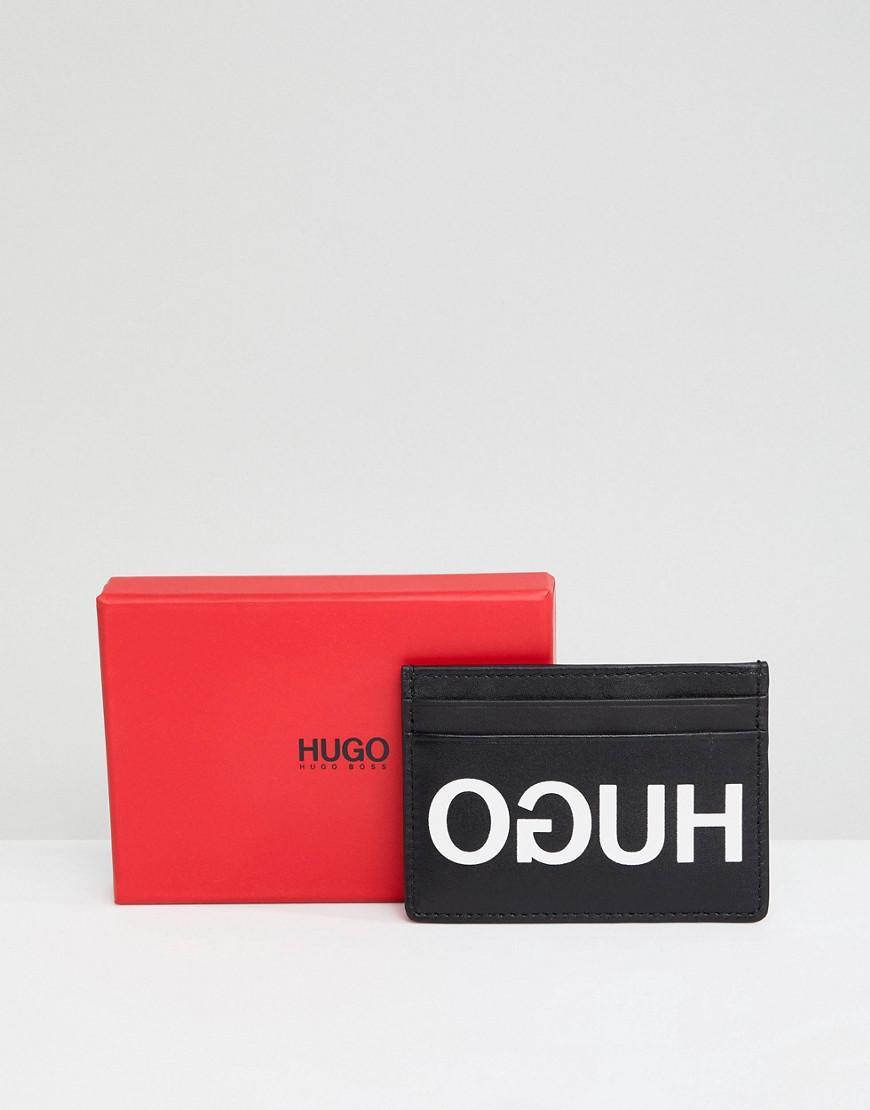 Lyst hugo exploded logo leather card holder in black in black for men view fullscreen colourmoves