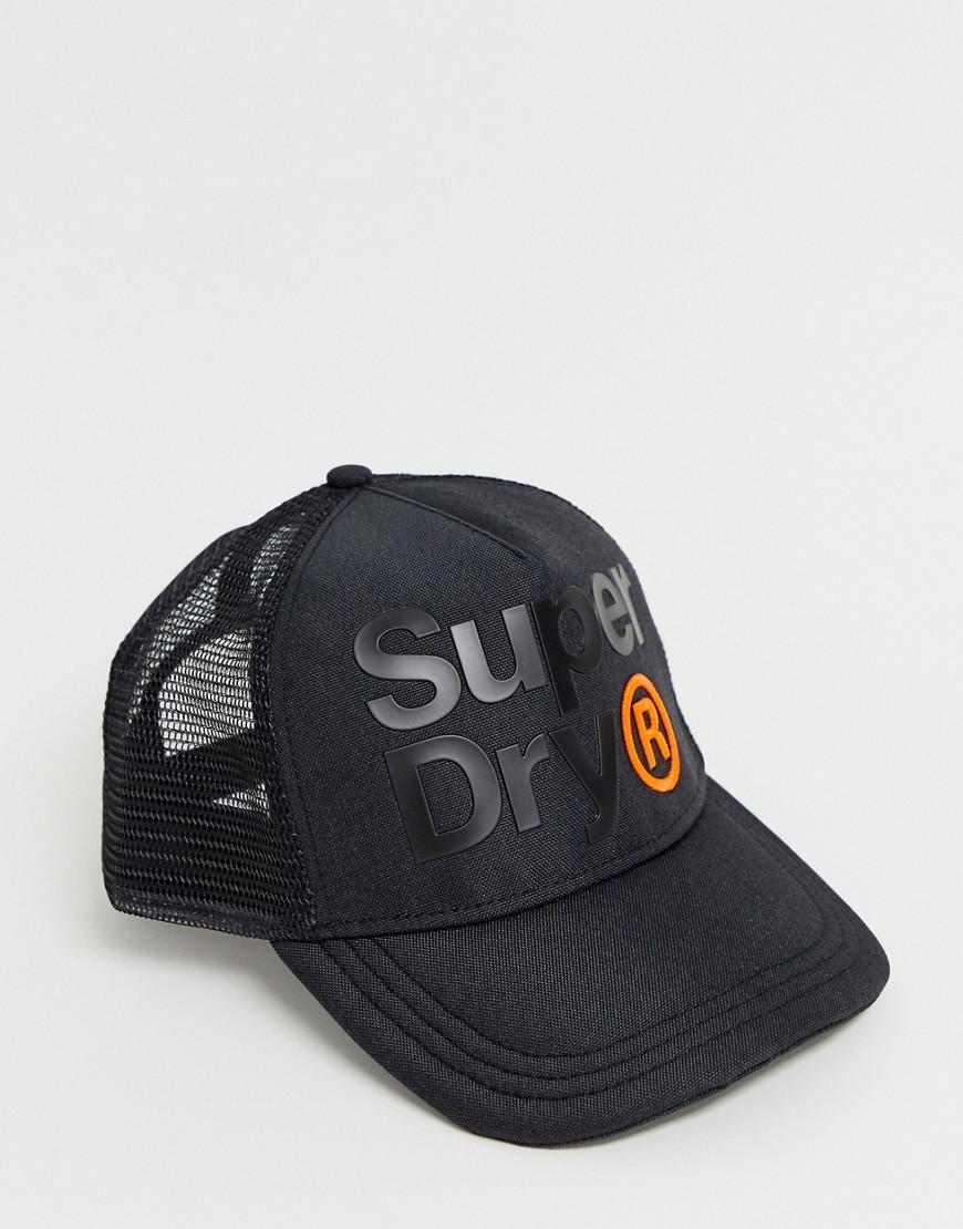 2d3f3d0b Superdry Lineman Trucker Cap in Black for Men - Lyst