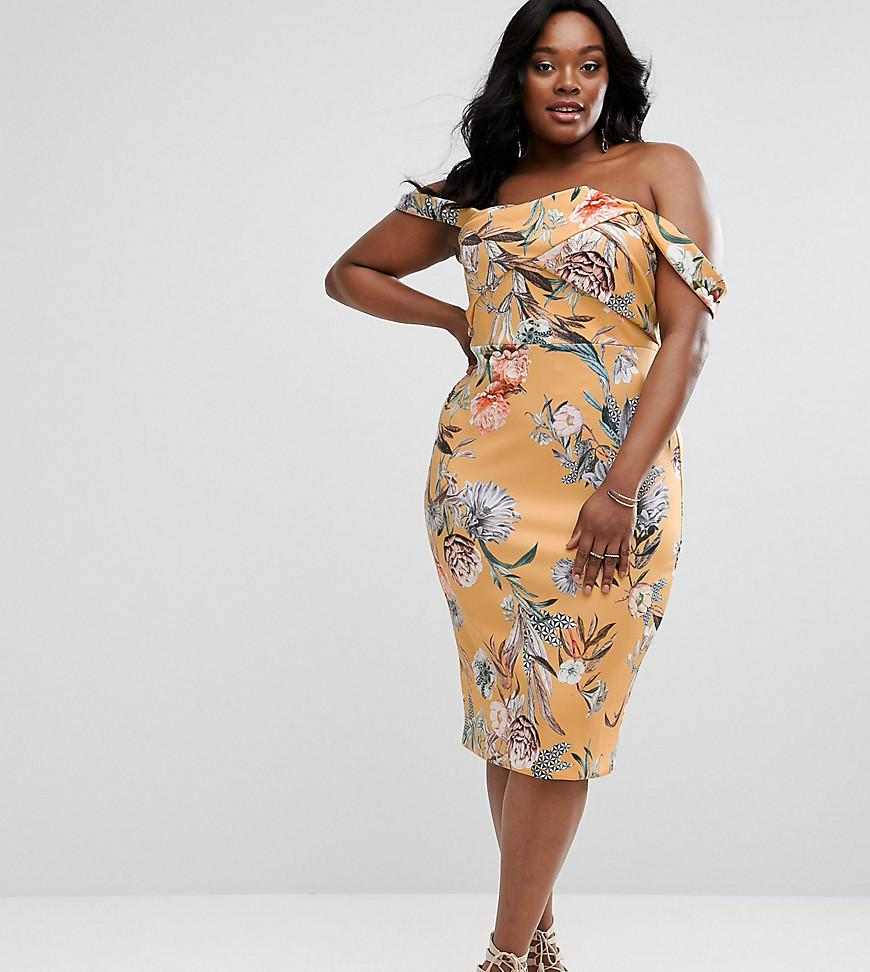 f9c221c28b5c Asos Floral Bodycon Midi Dress